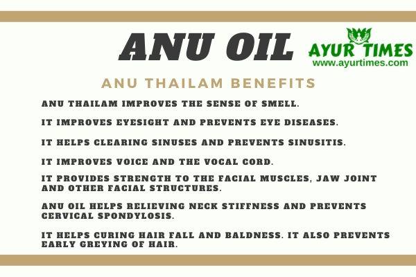 Anu Thailam Benefits