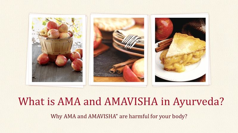 What is AMA and AMAVISHA in Ayurveda?