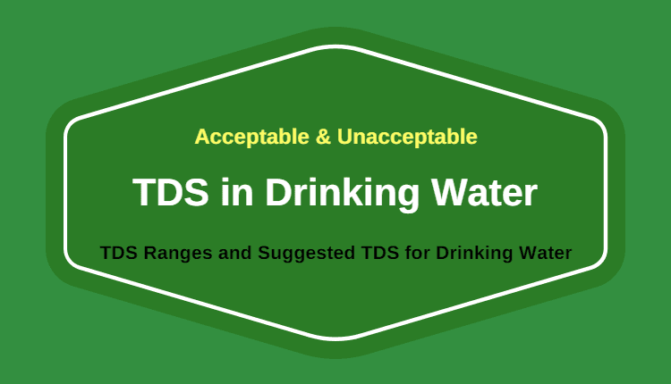Photo of Minimum and Maximum Acceptable TDS Level in Drinking Water
