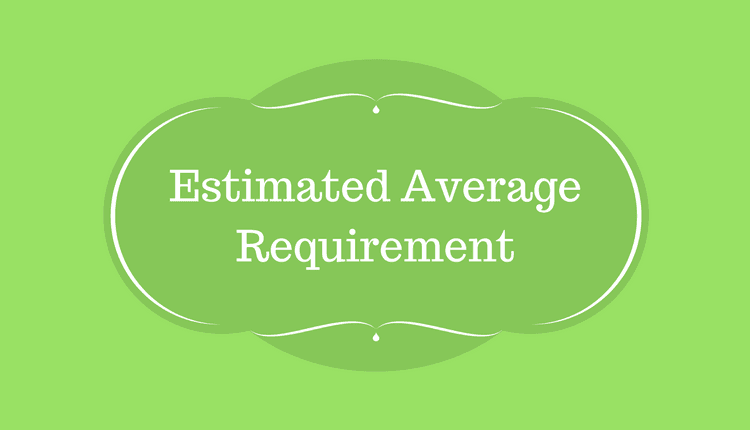 Photo of Estimated Average Requirement