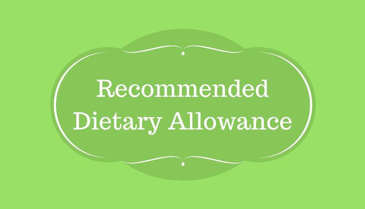 Photo of Recommended Dietary Allowance (RDA)