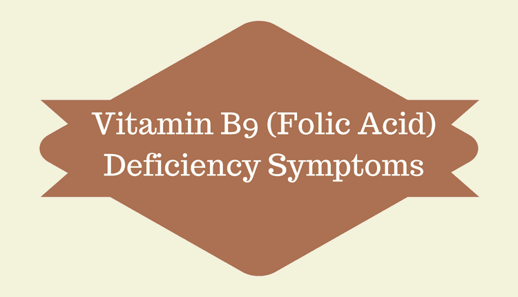 Folic Acid Deficiency Symptoms