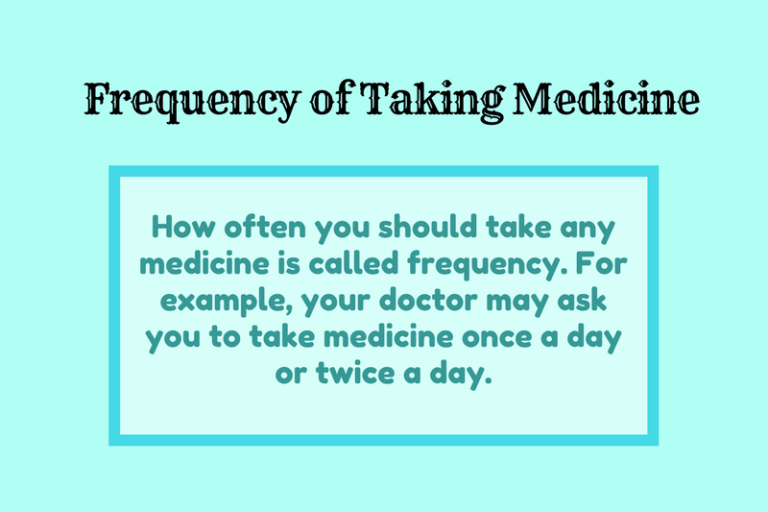 Frequency of Taking Medicine