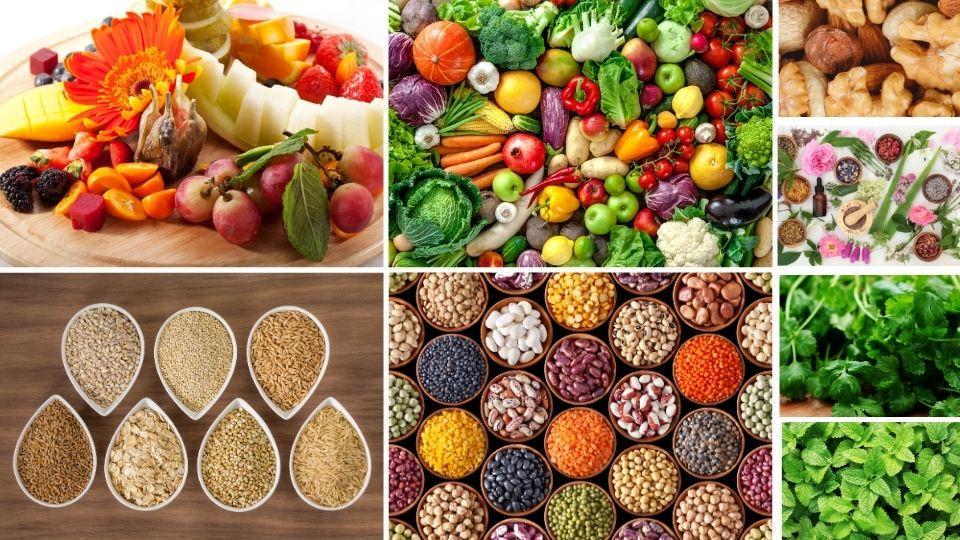 Fruits Vegetables Legumes Whole Grains